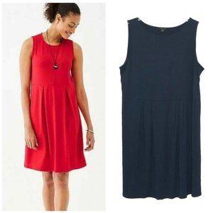 J. Jill Wearever Sleeveless Pleated Blue Dress CS